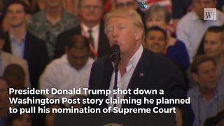 Trump Responds To Reports He Considered Rescinding Neil Gorsuch's Supreme Court Nomination - Video