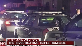 Tulsa Police investigate triple homicide in North Tulsa - Video