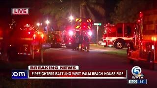4 people displaced by fire on Aruba Way near West Palm Beach - Video