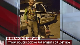 Police find boy and dog in Tampa - Video