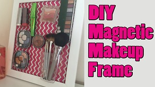 DIY Magnetic makeup frame - Video