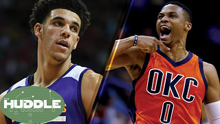 Will Lonzo Ball Average a Triple-Double Like Russell Westbrook? -The Huddle - Video