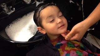 Cute Kid Enjoys A Spa Day - Video