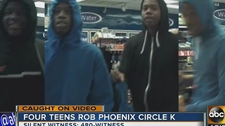 Police searching for 4 suspects in Circle K robbery - Video