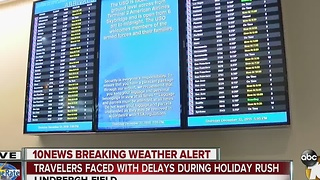 A lot of Flight Delays in San Diego Thursday - Video