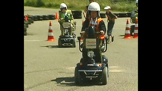 Old People Race Electric Buggies - Video
