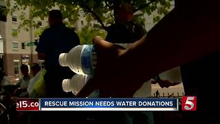 Nashville Rescue Mission Needs Bottle Water - Video