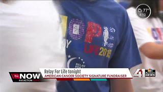 "American Cancer Society's ""Relay for Life"" tonight - Video"