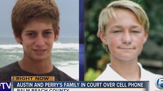 Austin and Perry's family in court over cell phone - Video