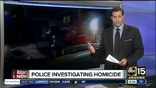Police investigating Phoenix shooting as a homicide