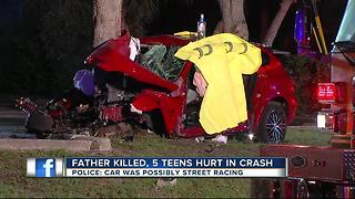 Father killed, 5 teens hurt in crash - Video
