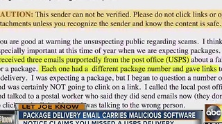 Let Joe Know: Suspicious emails about undeliverable packages - Video