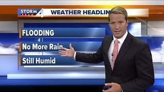 Rain moves out of water-logged viewing area - Video