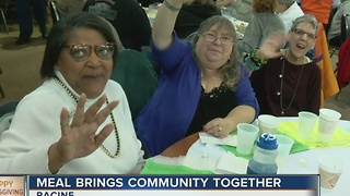 Free Thanksgiving dinner event draws 3,000 in Racine - Video