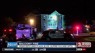 Balcony fire, Alpine Village Apartments - Video