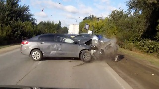 Accident in Volgograd, Russia - Video
