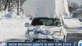 Should there be a fine for not clearing snow off a car? - Video