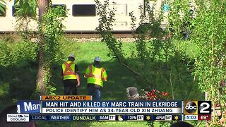 Man hit, killed by MARC train in Elkridge identified - Video