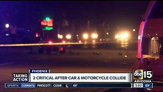 Passenger on motorcycle dies after crash near 43rd Avenue and Bethany Home Road - Video