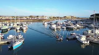 Stunning aerial views of Italian cost and sea - Video