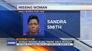Baltimore police search for missing woman