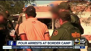 Border Patrol raids aid camp, arrests 4 men from Mexico - Video