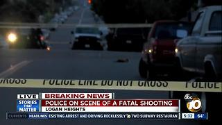 Police on the scene of a fatal shooting - Video