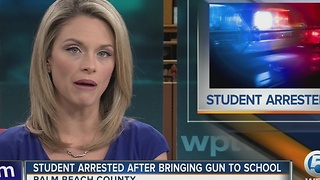Student arrested after bringing gun to school - Video