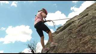 Young Cancer Survivor Abseils For Charity Fundraiser - Video