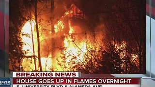 House goes up in flames overnight - Video