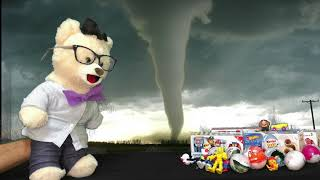 Learn about Tornadoes with Chumsky | Superhero Toy Opening Surprise | Educational Videos for Kids
