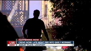 Lockport firefighters working overnight fire