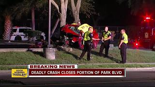 Five people hurt, one killed in two-vehicle crash on Park Boulevard in Pinellas Park - Video