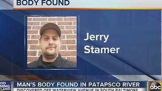Man's body found in Patapsco River - Video