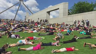 Hundreds Roll Down Parliament House Hill for One Last Time - Video