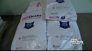 PetSmart donates pet food to community food bank