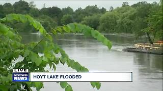 Delaware Park flooded, Hoyt Lake overflowing - Video