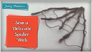 How to sew a spiderweb - Video