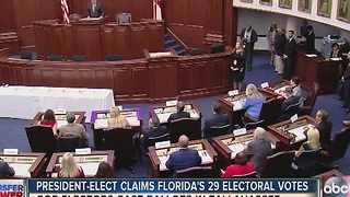 President-elect claims Florida's 29 electoral votes - Video