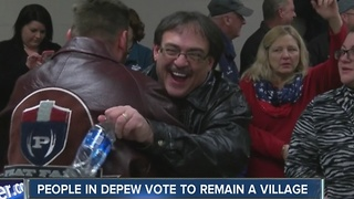 Depew votes to remain a village - Video