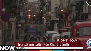Tourists react after Fidel Castro's death - Video
