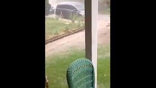 Guy Videoing Storm Nearly Gets Struck By Lightning - Video