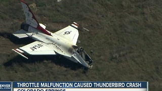 Throtle malfunction caused thunderbird crash - Video