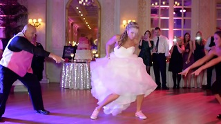 Father-Daughter Dance Mix Causes Rounds Of Applause - Video