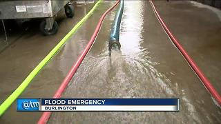 Flood emergency in Burlington
