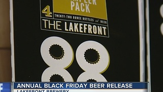 Lakefront Brewery releases annual Black Friday beer - Video