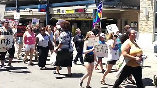 Demonstrators March for Trump Impeachment in Ann Arbor - Video