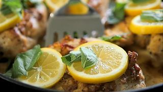 Creamy garlic lemon chicken recipe is deliciously tangy