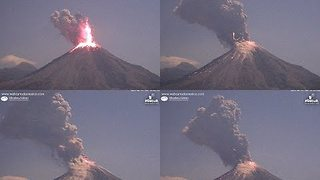 Colima Volcano Spews Cloud of Lava, Ash and Smoke