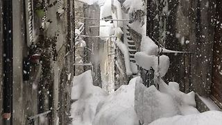 Snow Fall Continues in Abruzzo as Some Areas Face Flooding - Video